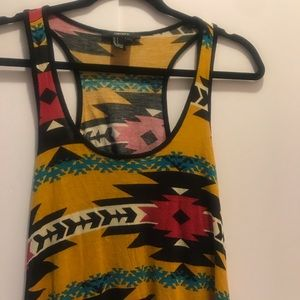 Crop tank top Forever 21 Tribal pattern